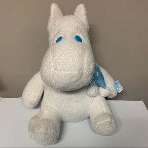 Moomin Jamma Large Plush Stuffed Toy Blue Scarf